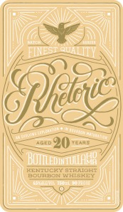 The recently submitted label for Orphan Barrel Rhetoric Bourbon.
